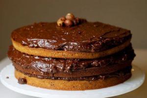 Peanut Butter Cream Choco Cake